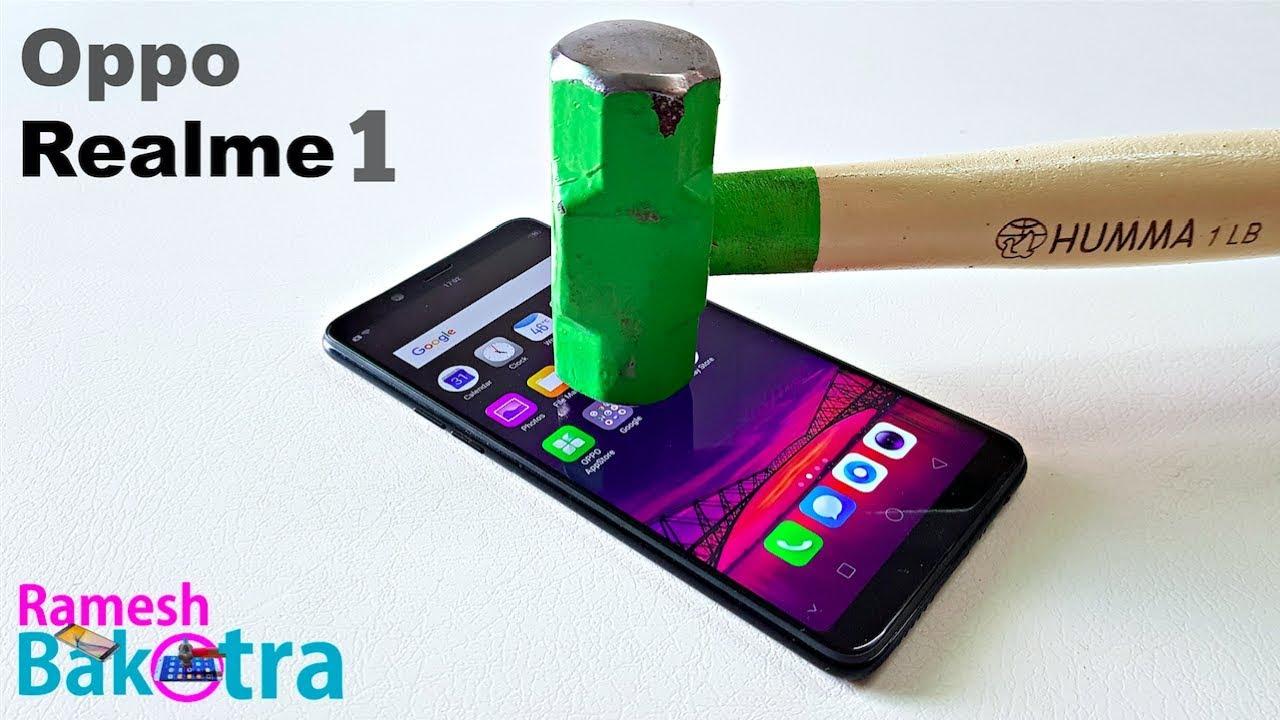meet 73bea 10afb Oppo Realme 1 Screen Scratch Test