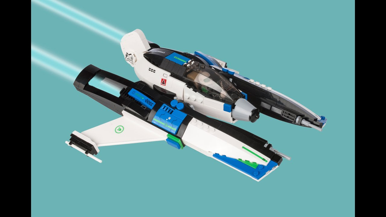Lego custom spacecraft spitfire space fighter youtube - Small reactor space engineers gallery ...