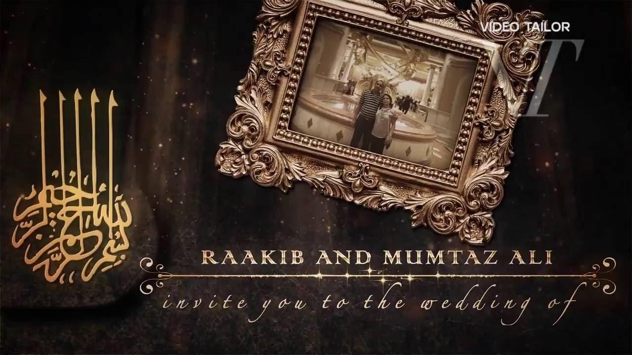 Nikaah Muslim Wedding Invitation Video VTSD009