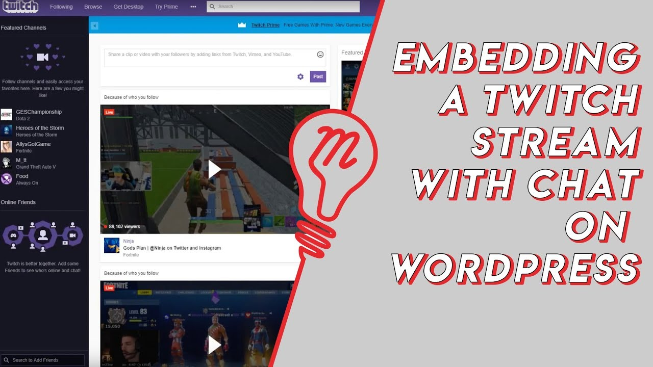 How to Embed Twitch Stream with Chat on Wordpress | Maxmedia Creates