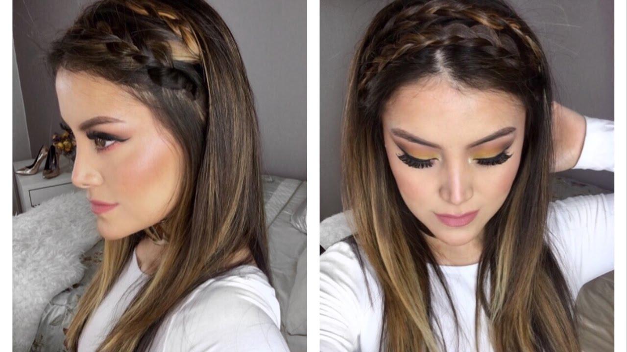 Trendy Hairstyle Peinado Con Trenza Bonito Facil Rapido Youtube
