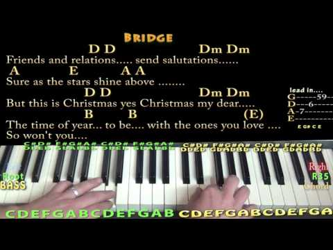Please Come Home For Christmas (Eagles) Piano Lesson Chord Chart in in A with Chords/Lyrics