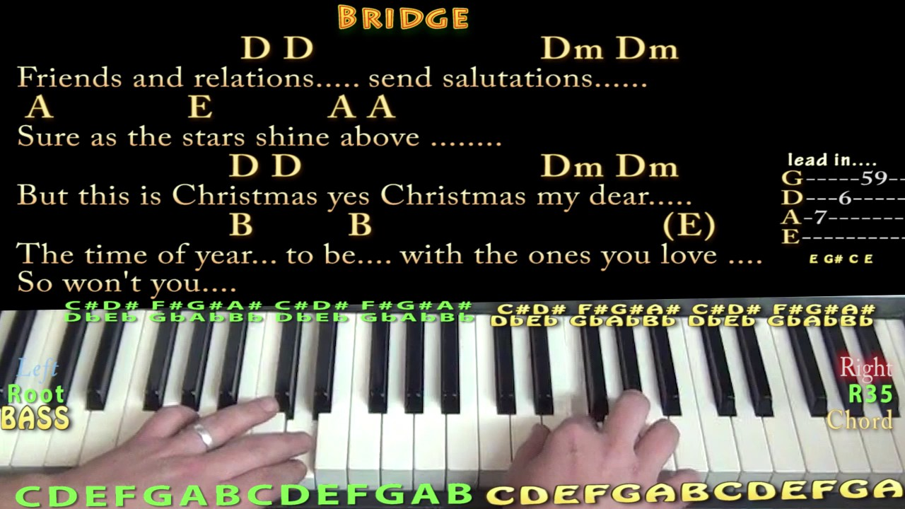 Please Come Home For Christmas Eagles Piano Lesson Chord Chart In In A With Chords Lyrics
