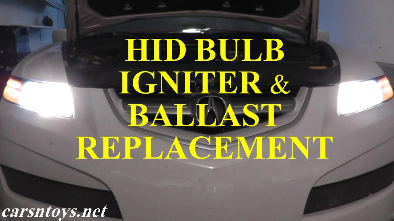 Hid Headlight Bulb Igniter Wire And Ballast Replacement