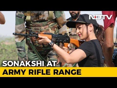 Watch: Sonakshi Sinha Fires A Near Splendid Shot At Army Rifle Range