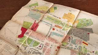 Brussels Bruxelles 1910 Exposition Universelle 3 pockets maps souvenir