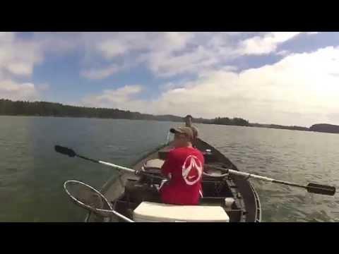 Fishing Siltcoos Lake, Oregon