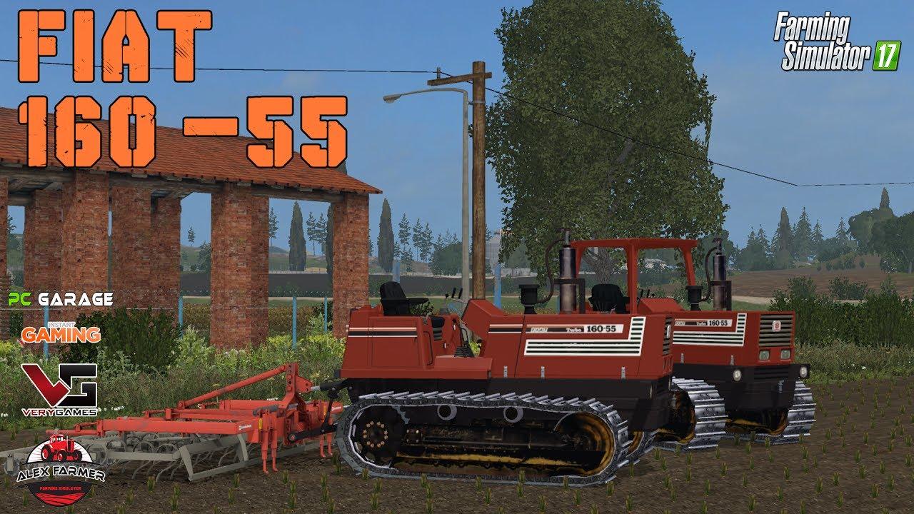 Fiat Agri 160 55 Turbo Cingolato Farming Simulator 2017 Youtube