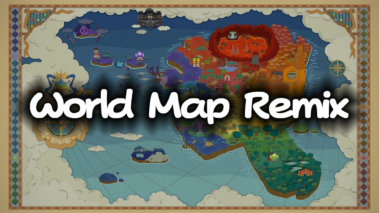 Paper mario color splash world map remix youtube paper mario color splash world map remix gumiabroncs Gallery
