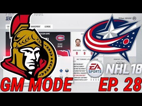 ROUND 1 vs. BLUE JACKETS - NHL 18 - Franchise Mode - Ep. 28 - Ottawa