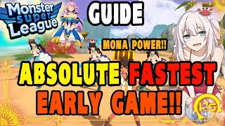 Monster Super League GUIDE!! THE ABSOLUTE FASTEST WAY TO COMPLETELY BLAST THROUGH EARLY GAME!! ♕
