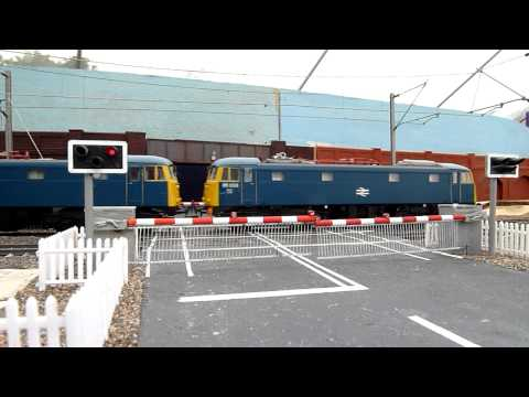 Ravensclyffe Level Crossing with Freightliners