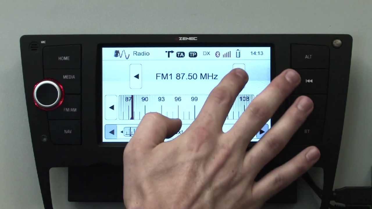 bedienung vom radiotuner des zenec z e3215 f r bmw 3er e90. Black Bedroom Furniture Sets. Home Design Ideas