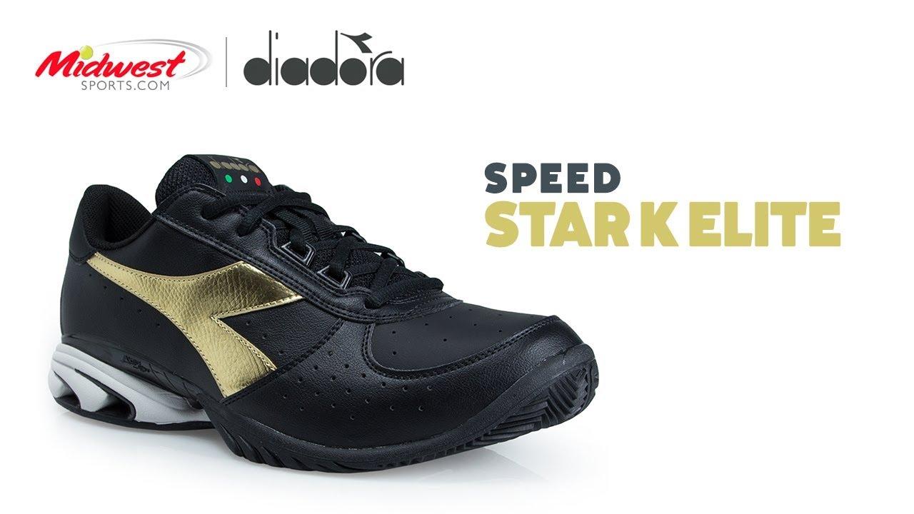 Diadora Star K Elite Tennis Shoe - YouTube