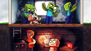 Minecraft   Who's Your Daddy? How to Survive a Zombie Apocalypse! (Zombie Bunker)