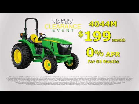 Ritchie Tractor Model Year End Clearance Event