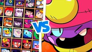 EUGENIO VS TODOS OS BRAWLERS DO JOGO! BRAWL STARS! GENE VS ALL BRAWLERS