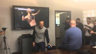 Conor McGregor fights Dana White... virtually