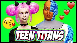 TEEN TITANS HAVE A BABY?? ♥ Cyborg and Jinx ♥ Sims 4 Random Genetics Challenge