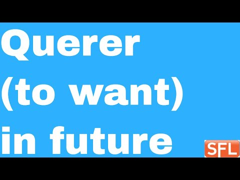 """GCSE Spanish - How To Conjugate The Verb """"Querer"""" (to Want) In The Future In Spanish"""