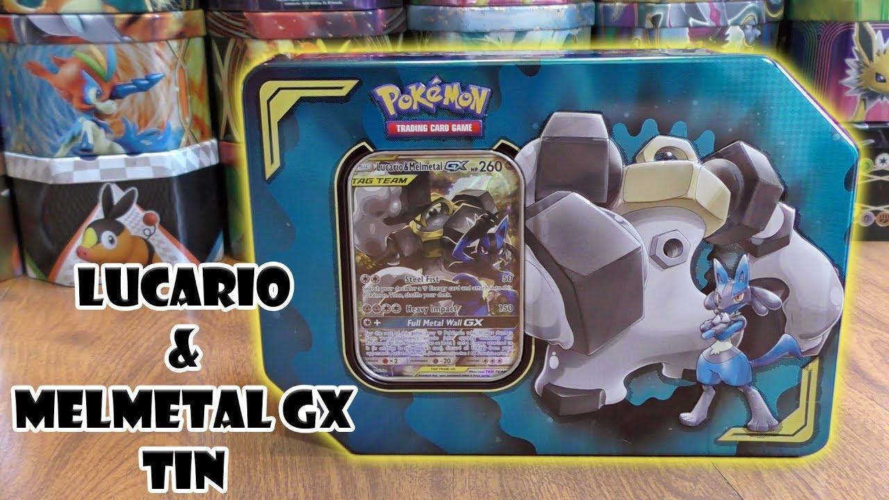 Pokemon GX Tag Team 2019 Power Partnership Lucario /& Melmetal-GX Collector Tin