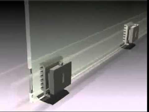 TAPER-LOC Bottom Glass Railing Base Installation