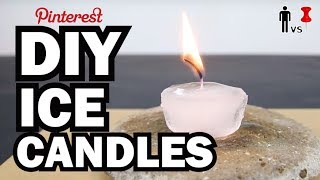 DIY Ice Candles - Man Vs Pin - Pinterest Test #55