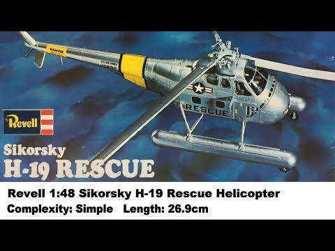 Revell 1:48 Sikorsky H-19 Rescue Helicopter Kit Review