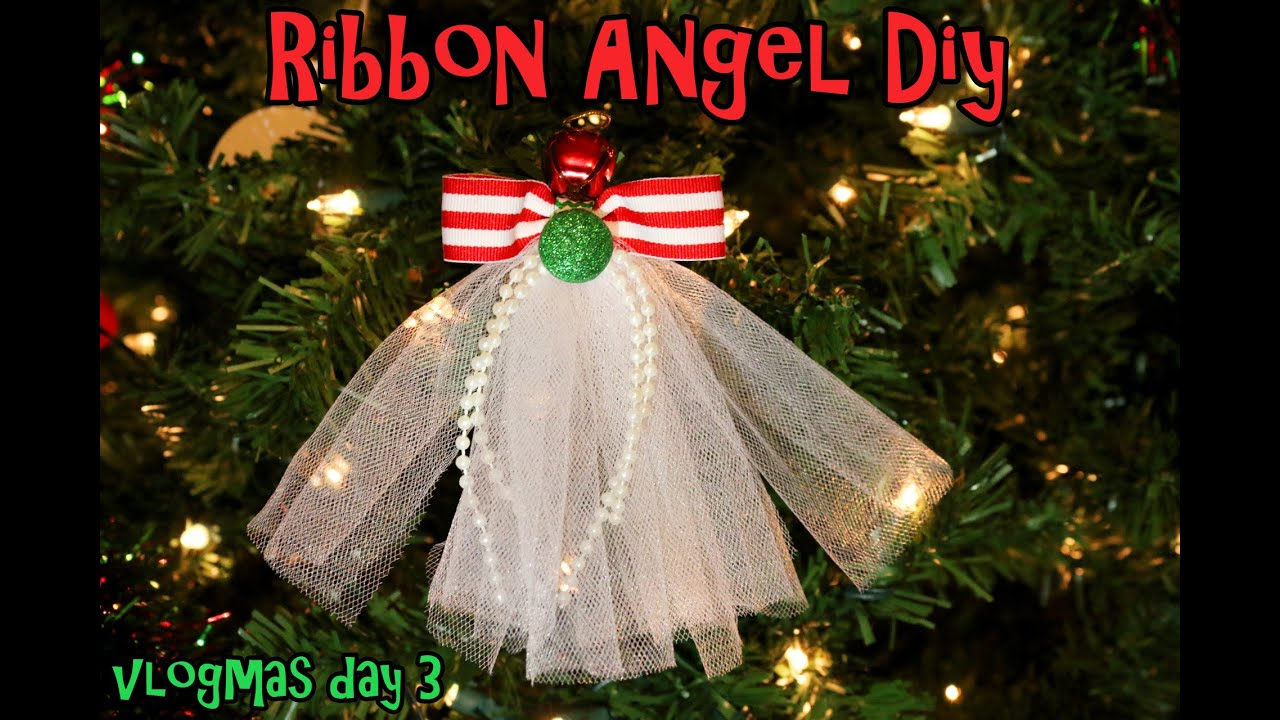 vlogmas 2014 day 3 diy ribbon angel hair clipribbon angel ornament - Angel Hair Christmas Decoration