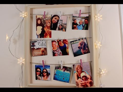 Diy marco para colgar nuestras fotos youtube - Collage de fotos para pared ...