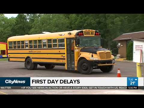 Hundreds of school bus delays reported on 1st day back