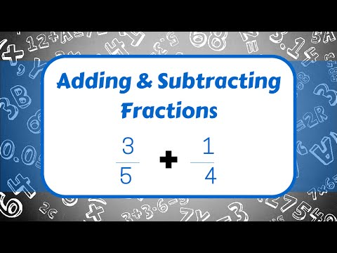 Adding And Subtracting Fractions!