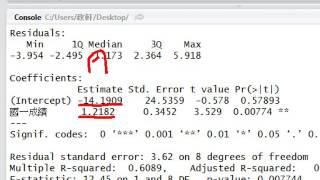 使用R進行簡單迴歸分析