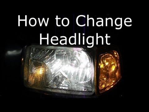 How to change headlight 2004 Ford Ranger Pick up Truck