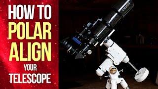 how to Polar Align Your Telescope Mount - EQ Polar Alignment