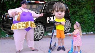 Politia a luat trotinetele copiilor Istorioara pentru copii