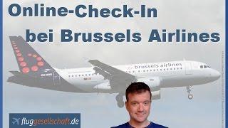 Brussels Airlines Online Check In (deutsch) - Sitzplatzänderung ohne Extragebühren