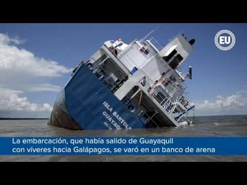 Barco con carga a Galápagos sufrió accidente cerca a Posorja
