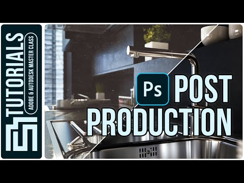 Kitchen Design In 3ds Max - Post Production