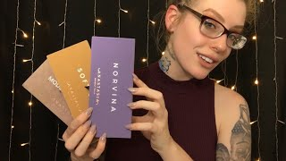 ASMR Eyeshadow Palette Collection & Closet | Beauty Tingles ~