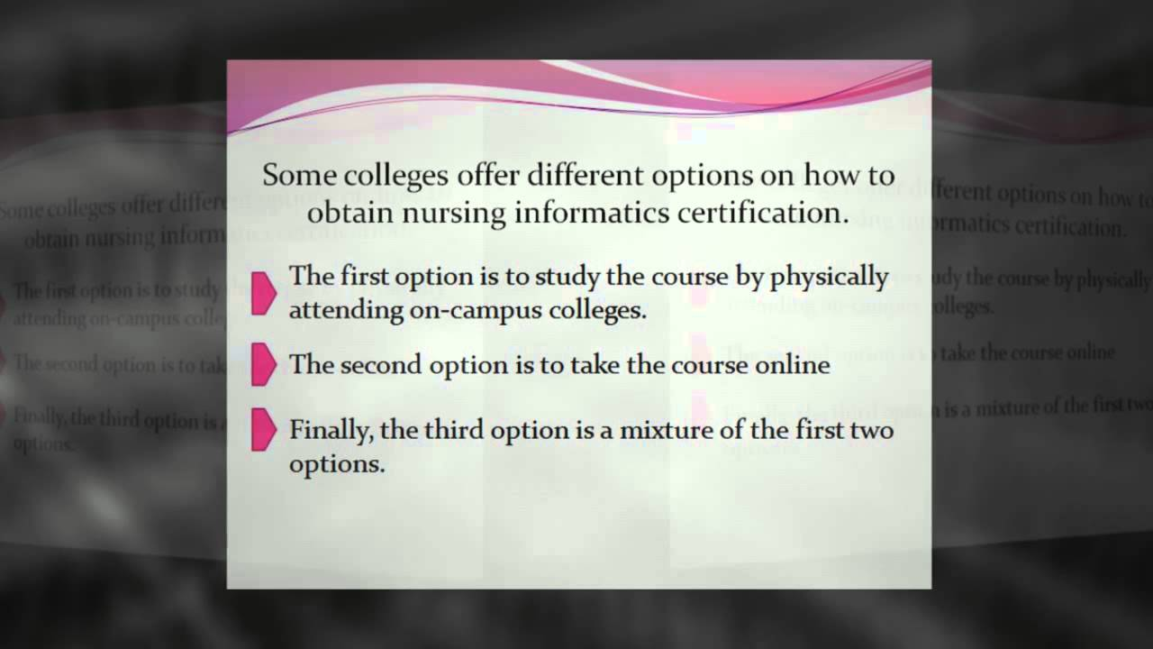 Fundamental Overview On Nursing Informatics Youtube