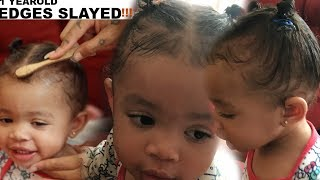 SLAYING My ONE Year Old's EDGES!|SHAREESLOVE