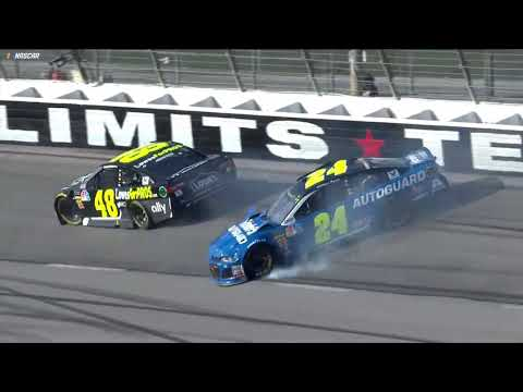 Jimmie Johnson, William Byron collide in Turn 3