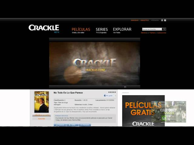 Crackle.com Ve películas y series GRATIS Y 100% LEGAL Travel Video
