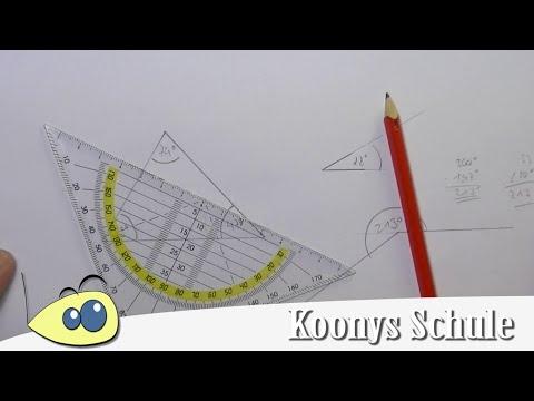 Wie misst man Winkel? Winkel messen mit Geodreieck, vorgemacht und erklärt