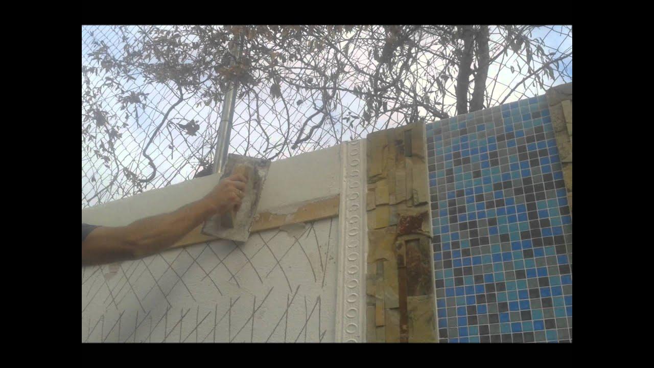 gaviones decorativos para el jard n y jardiner a Decoraci n muro de jard n casa 10 youtube Muros para jardin