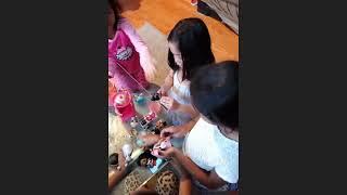 Kayla and Athena lol dolls pretend play with Darshini and Akshara