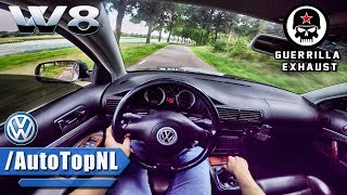VW Passat W8 SUPER LOUD! Guerilla Exhaust POV Test Drive by AutoTopNL