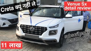 Hyundai Venue SX bs6 most detailed review with onroad price || on demand video #PCW