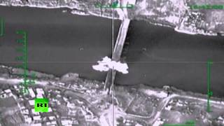 Russian planes bomb bridge over Euphrates, cut off ISIS supply lines